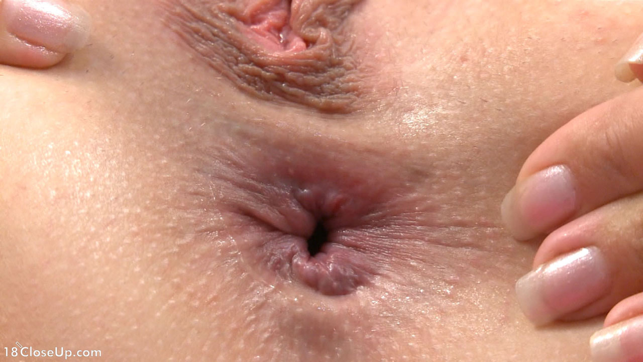 Close up girl asshole
